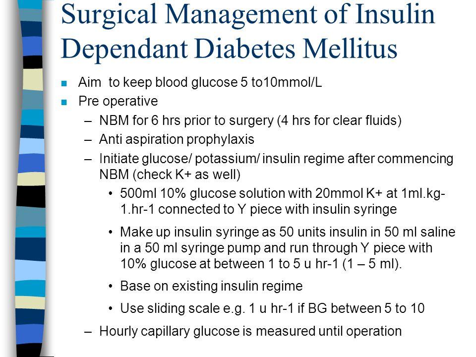 Surgical Management of Insulin Dependant Diabetes Mellitus
