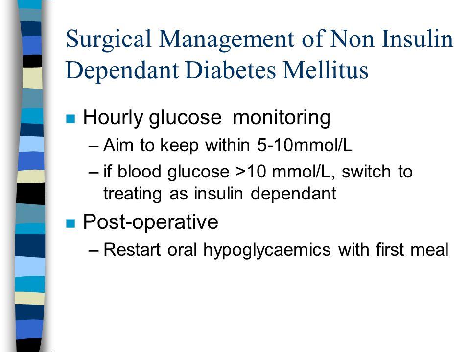 Surgical Management of Non Insulin Dependant Diabetes Mellitus