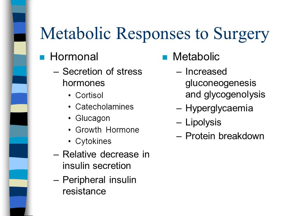 Metabolic Responses to Surgery