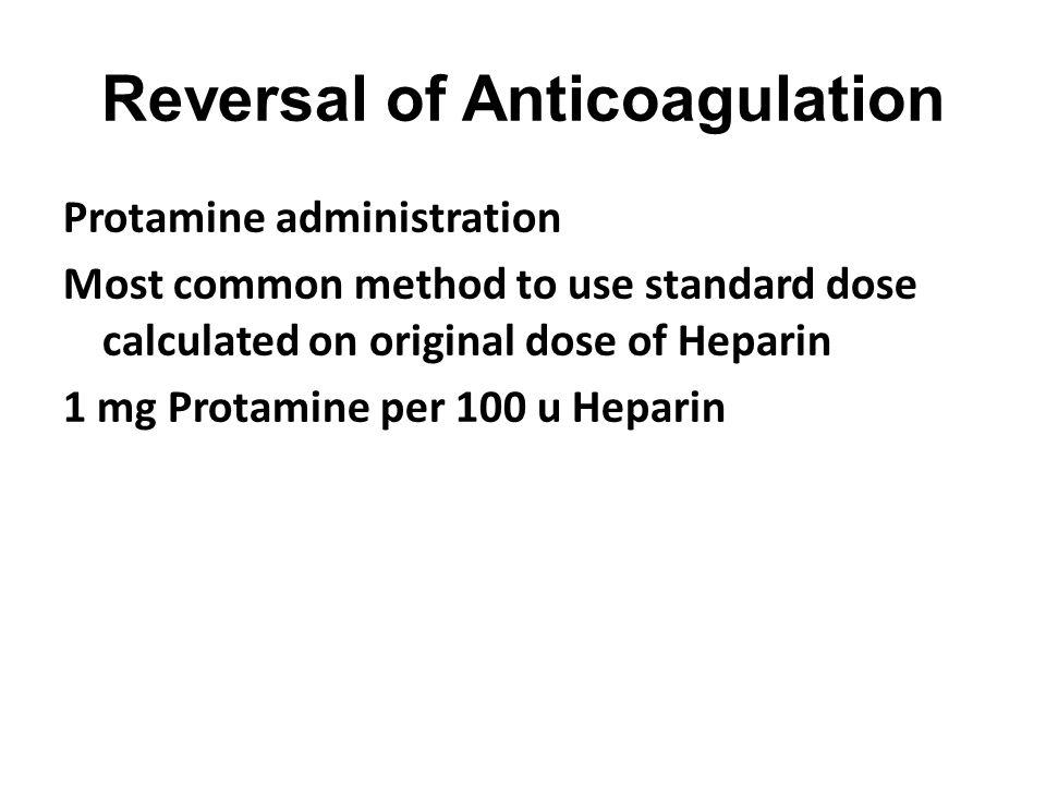 Reversal of Anticoagulation