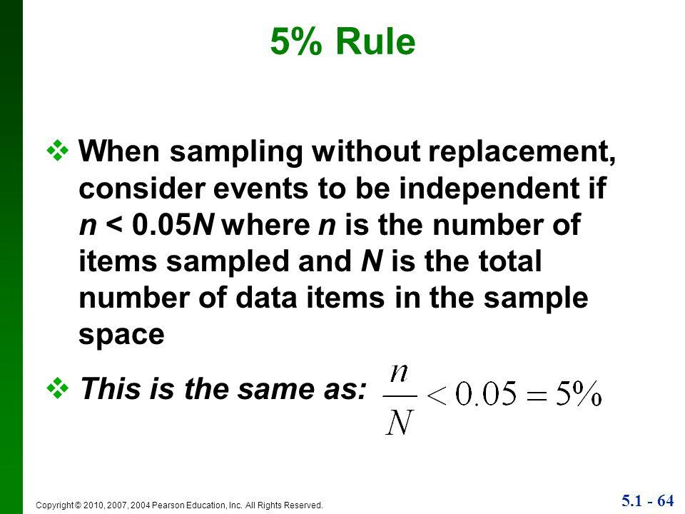5% Rule