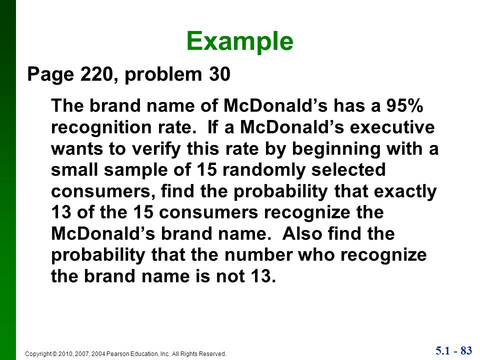 Example Page 220, problem 30.
