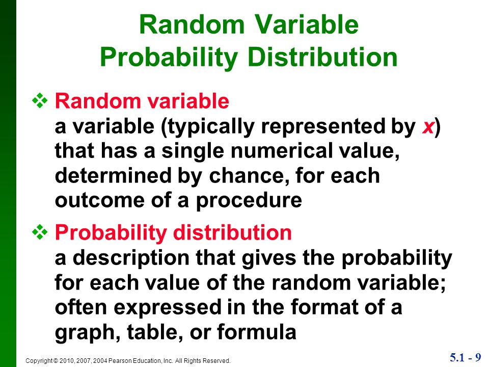 Random Variable Probability Distribution