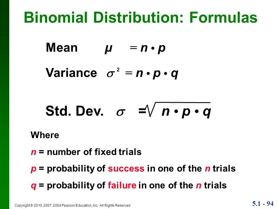Binomial Distribution: Formulas