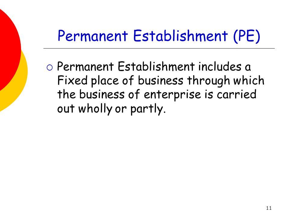 Permanent Establishment (PE)