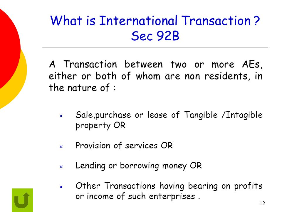 What is International Transaction Sec 92B