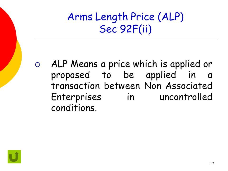 Arms Length Price (ALP) Sec 92F(ii)