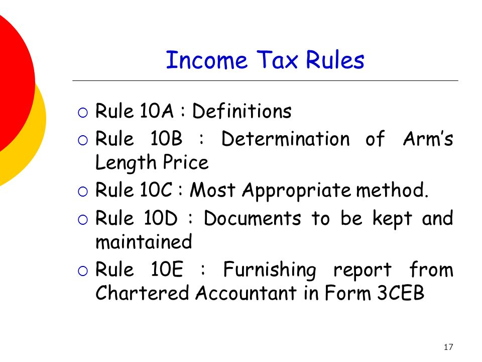 Income Tax Rules Rule 10A : Definitions