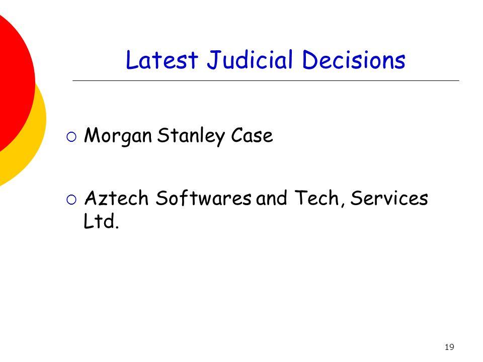 Latest Judicial Decisions