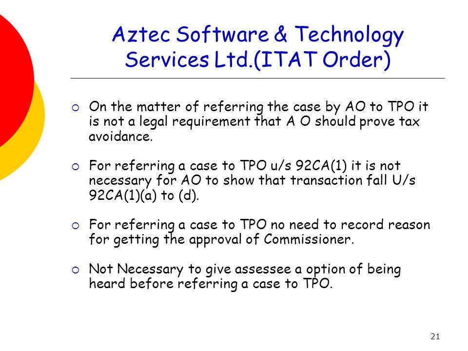 Aztec Software & Technology Services Ltd.(ITAT Order)