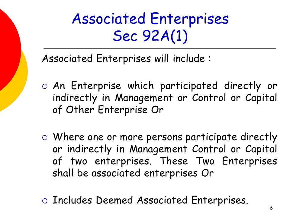 Associated Enterprises Sec 92A(1)