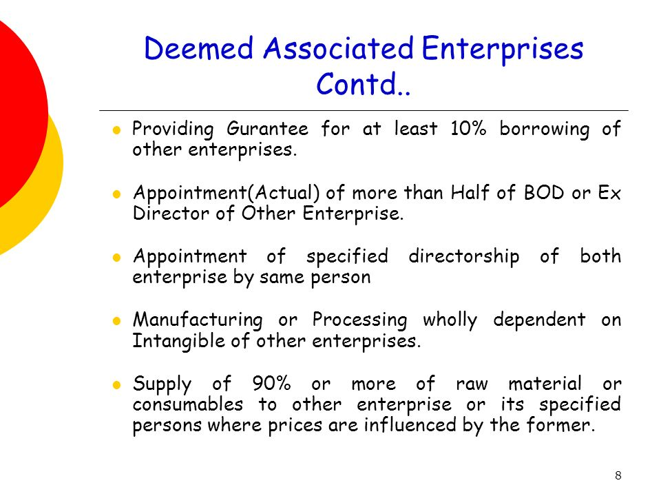 Deemed Associated Enterprises Contd..