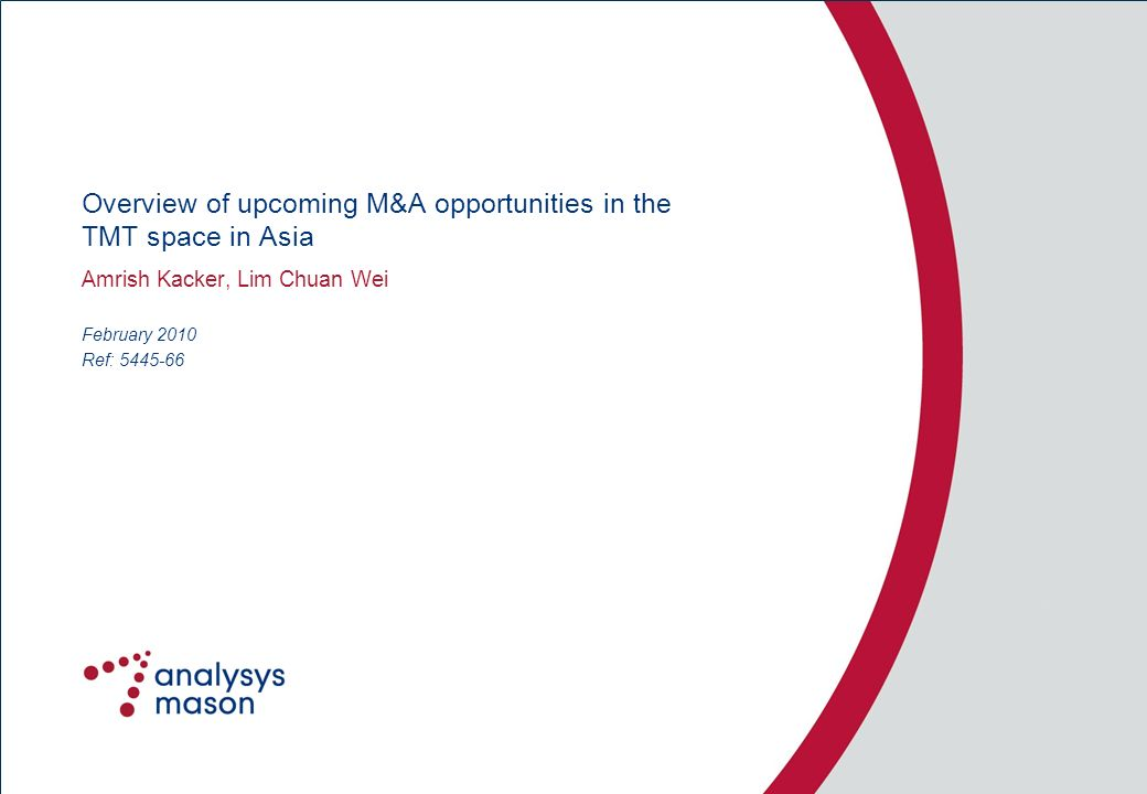 Overview of upcoming M&A opportunities in the TMT space in Asia