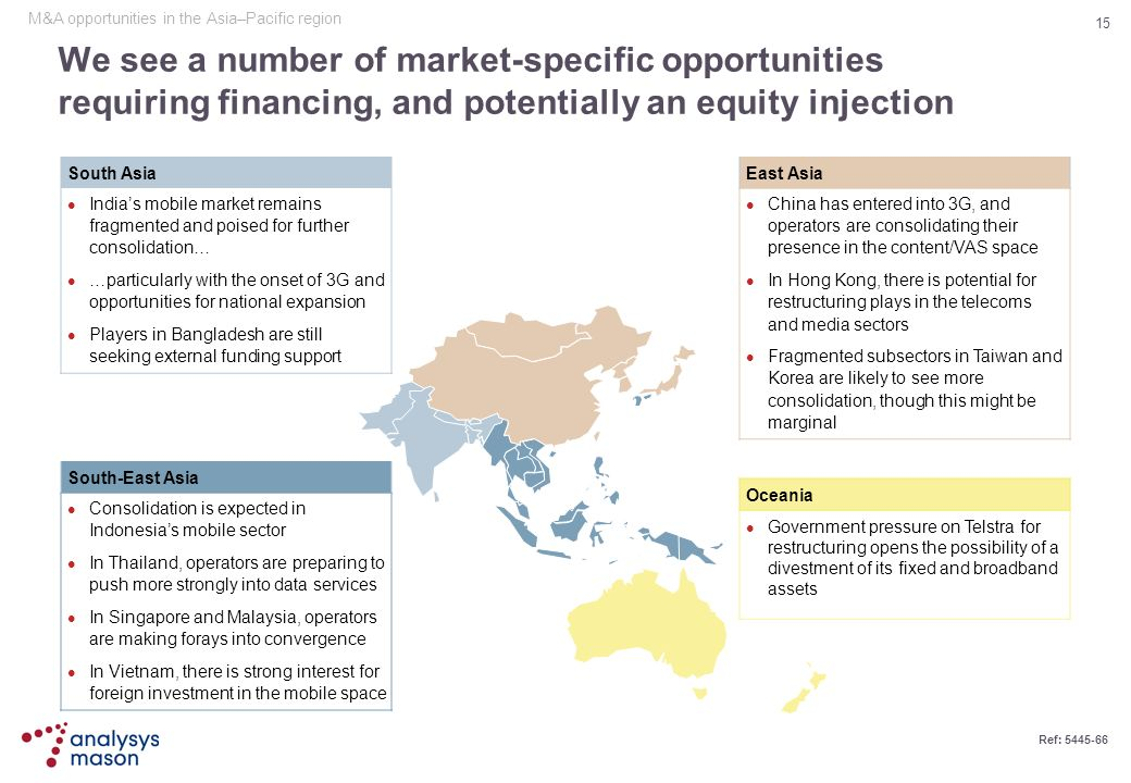M&A opportunities in the Asia–Pacific region