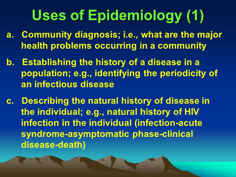 Uses of Epidemiology (1)