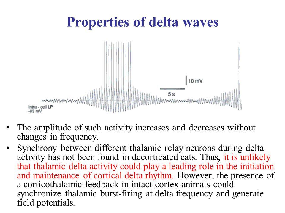 Properties of delta waves