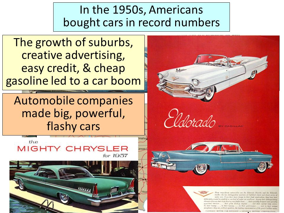 In the 1950s, Americans bought cars in record numbers