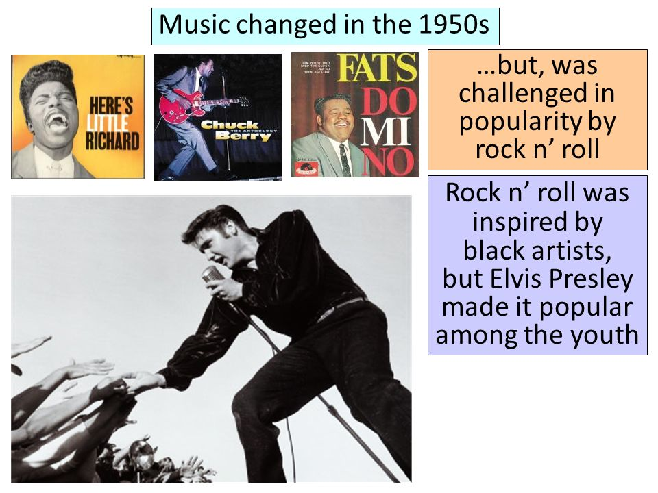 …but, was challenged in popularity by rock n' roll