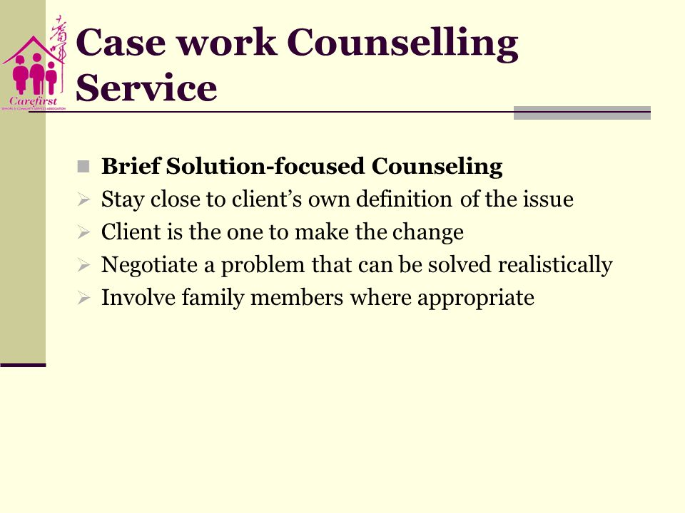 Case work Counselling Service