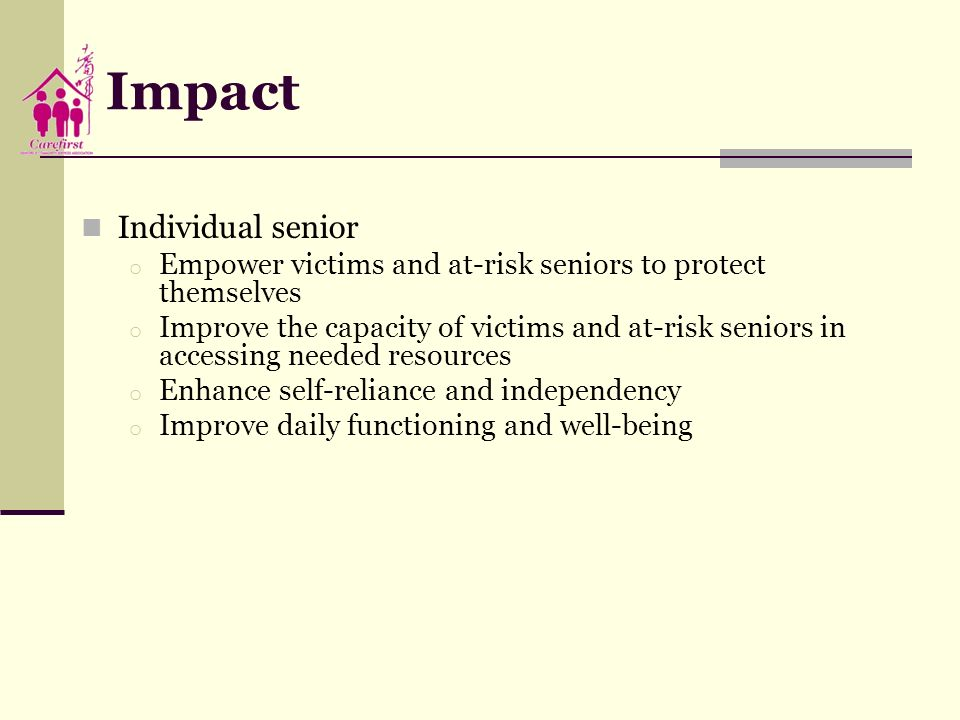 Impact Individual senior