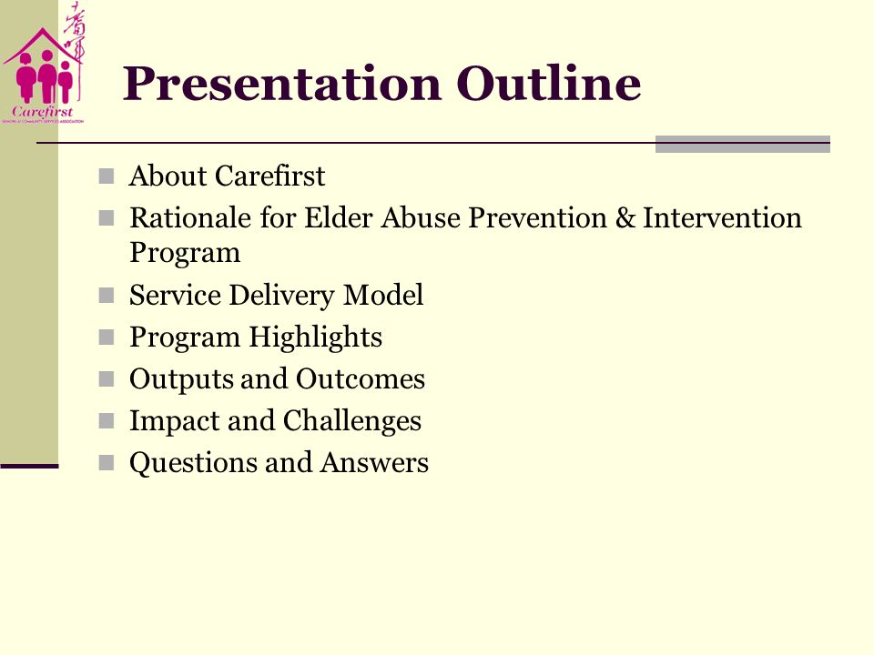 Presentation Outline About Carefirst