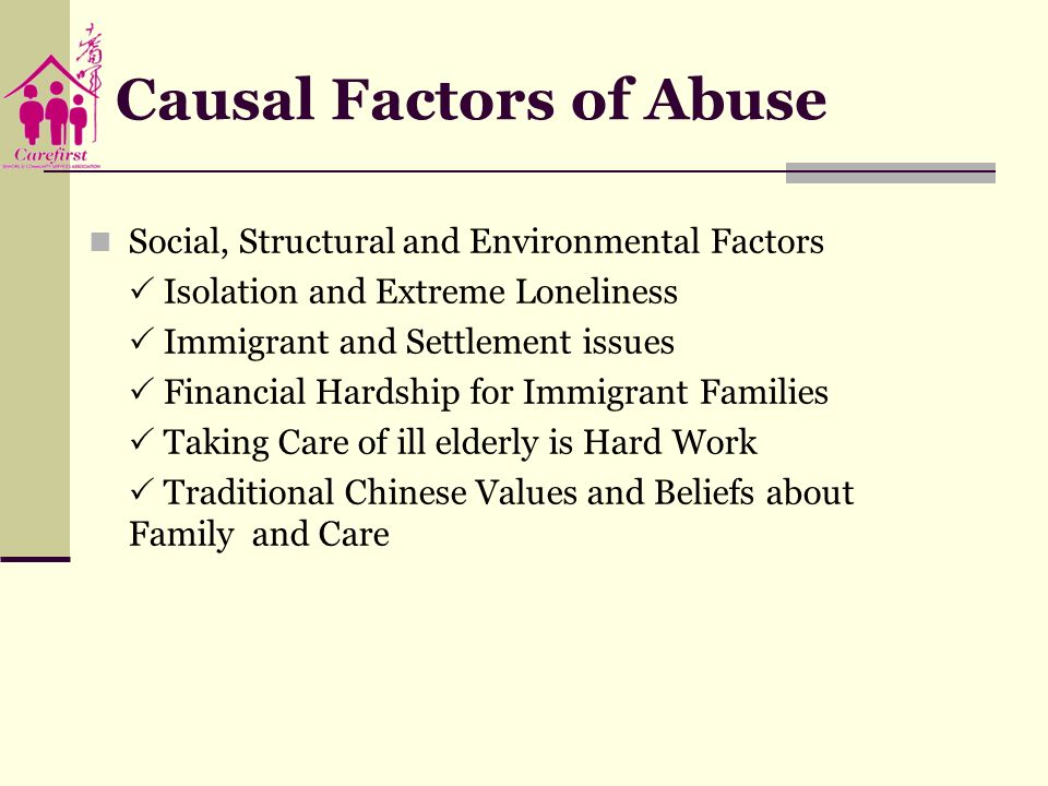 Causal Factors of Abuse