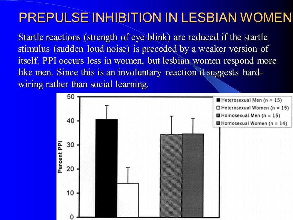 PREPULSE INHIBITION IN LESBIAN WOMEN