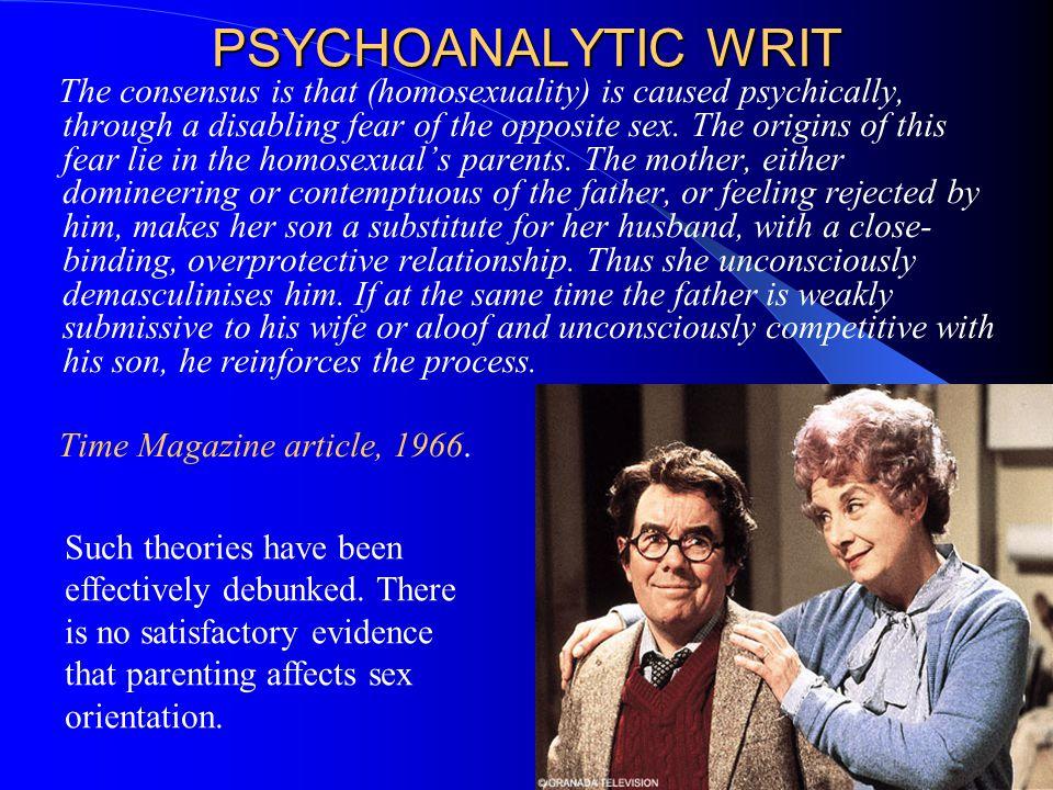 PSYCHOANALYTIC WRIT