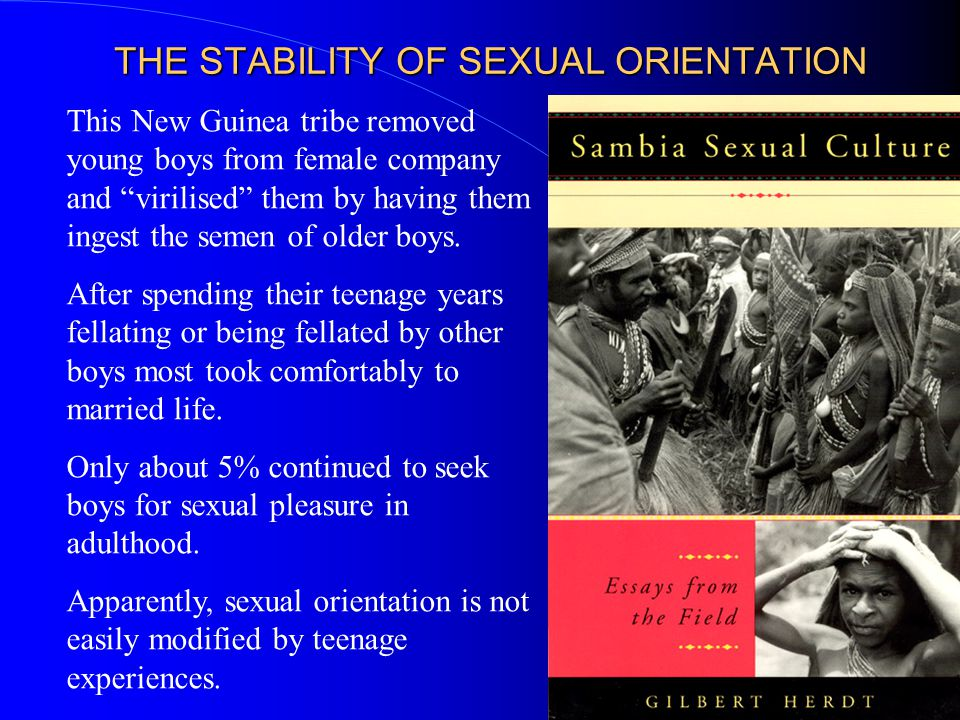 THE STABILITY OF SEXUAL ORIENTATION