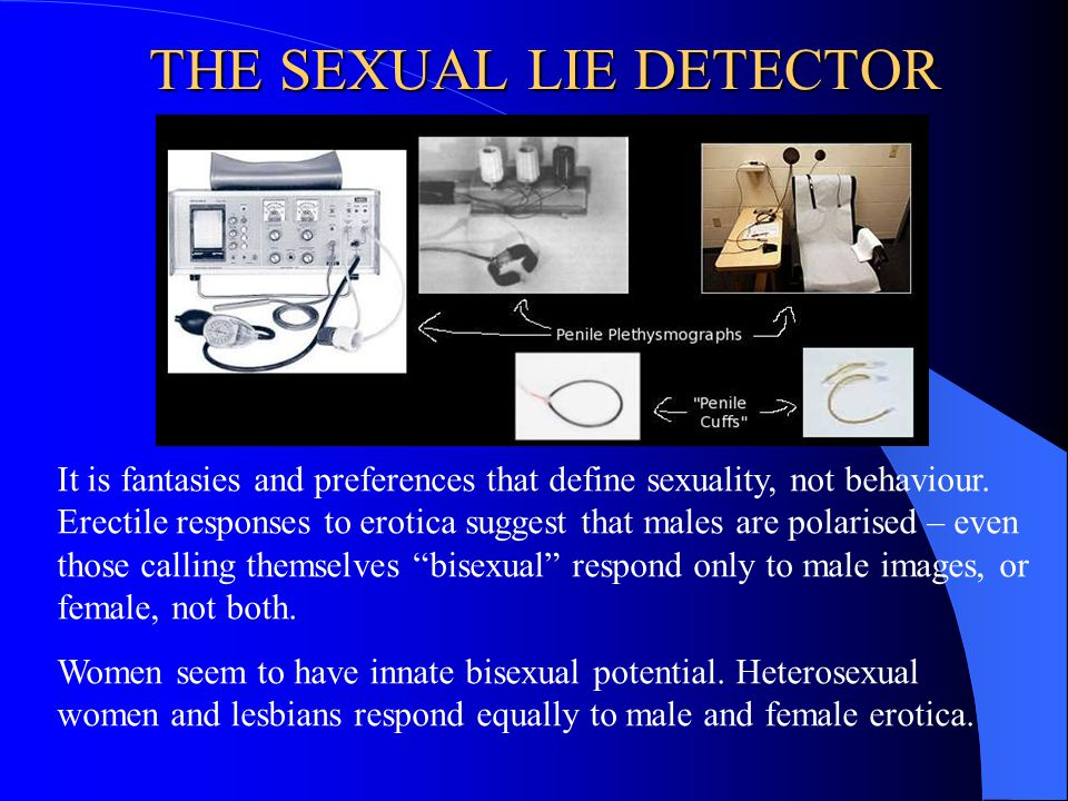 THE SEXUAL LIE DETECTOR