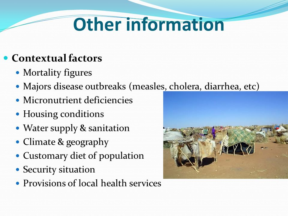 Other information Contextual factors Mortality figures