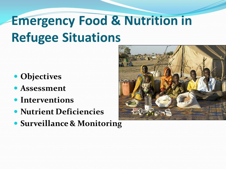 Emergency Food & Nutrition in Refugee Situations
