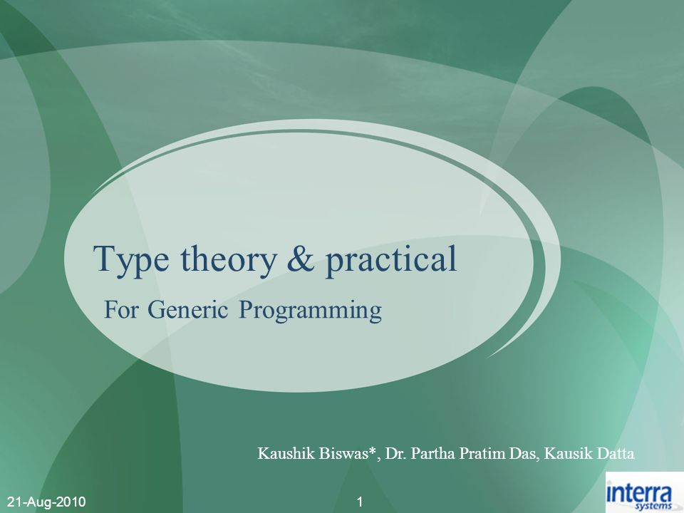 Type theory & practical