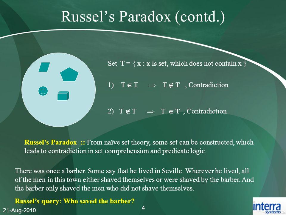 Russel's Paradox (contd.)