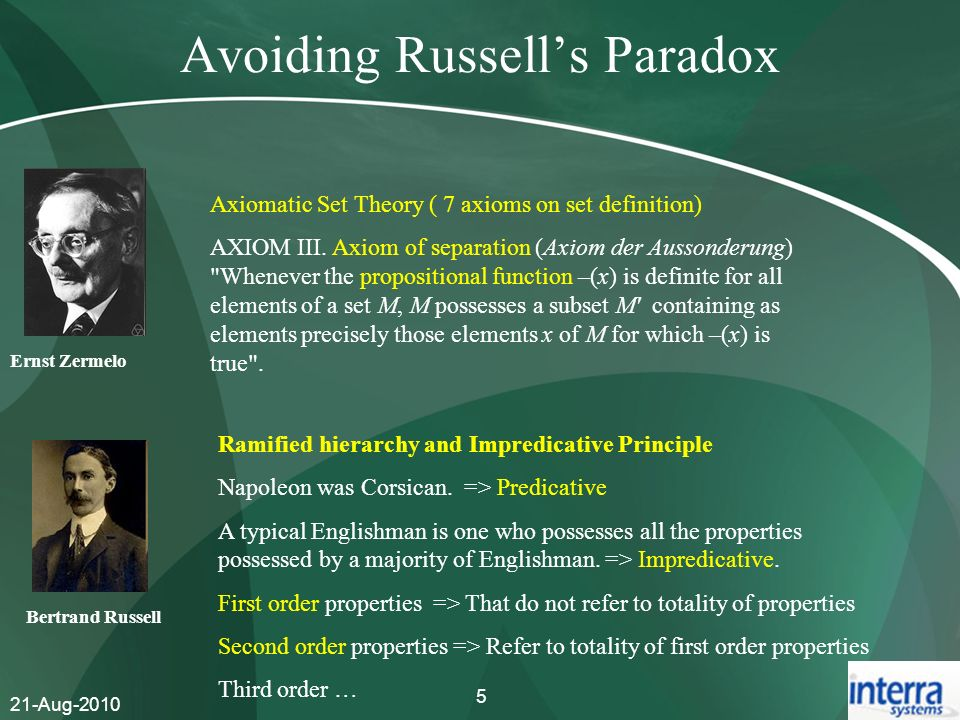 Avoiding Russell's Paradox