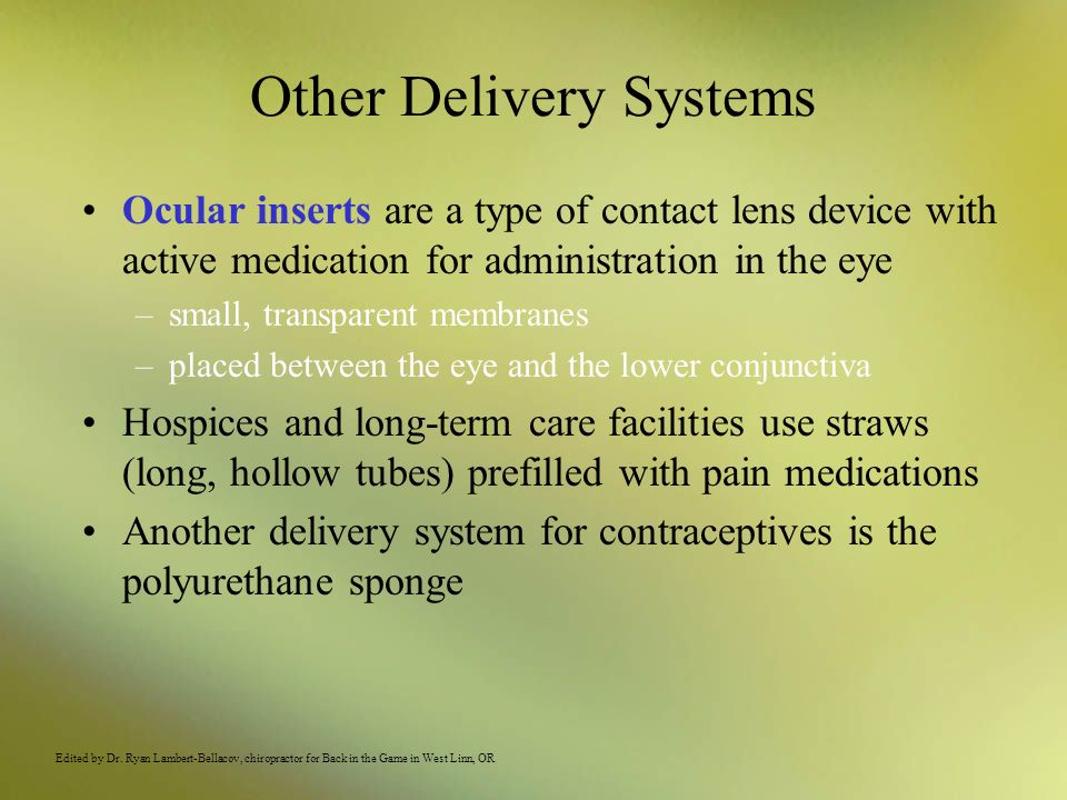 Other Delivery Systems