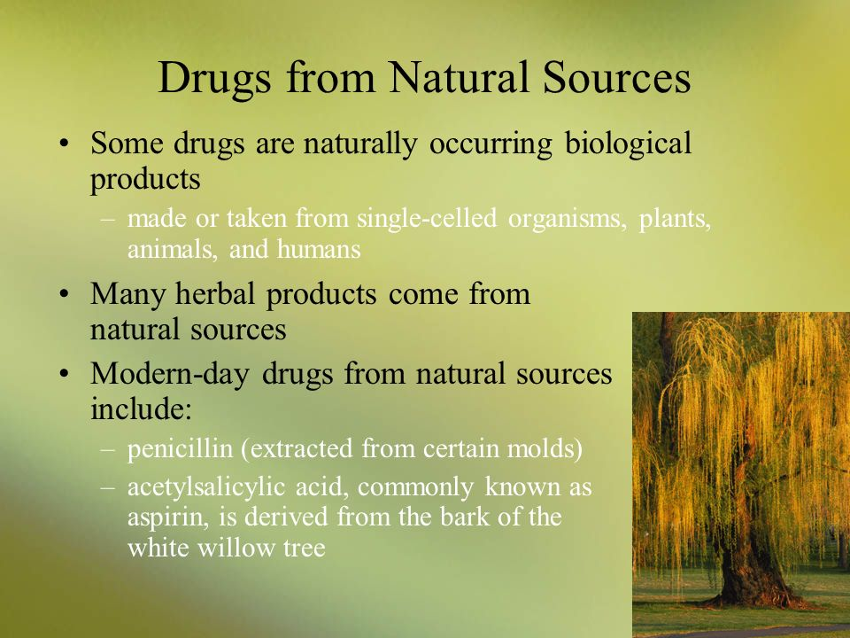 Drugs from Natural Sources