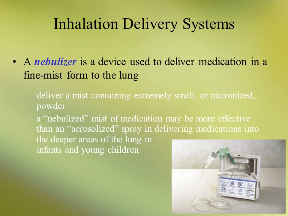 Inhalation Delivery Systems