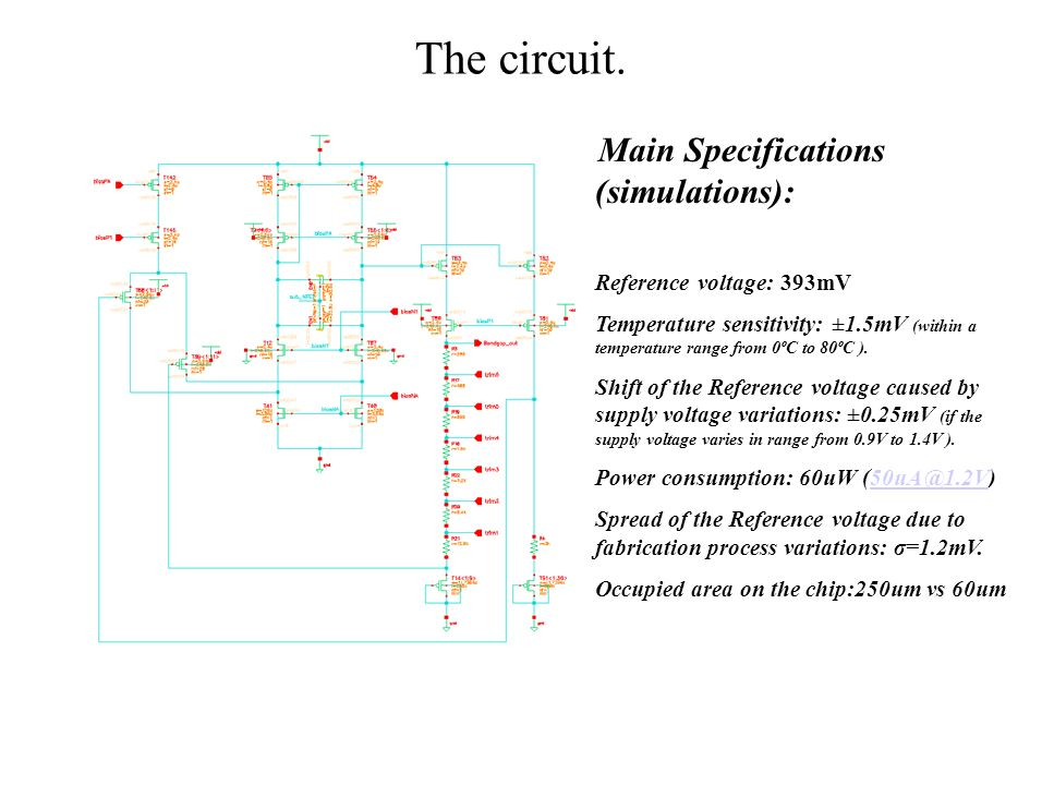 The circuit. Reference voltage: 393mV