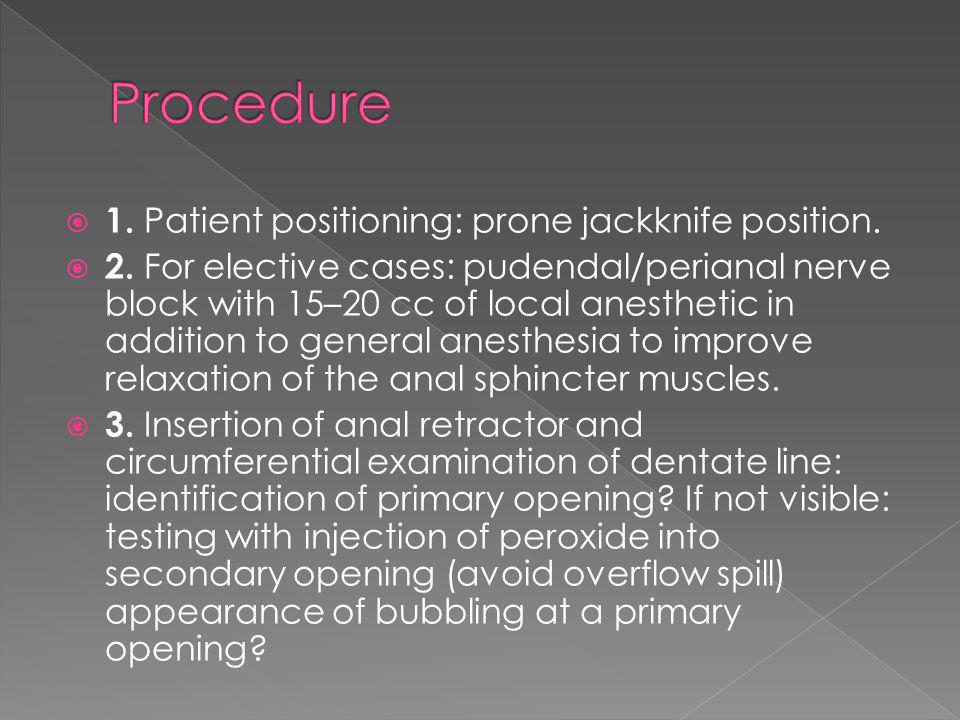 Procedure 1. Patient positioning: prone jackknife position.