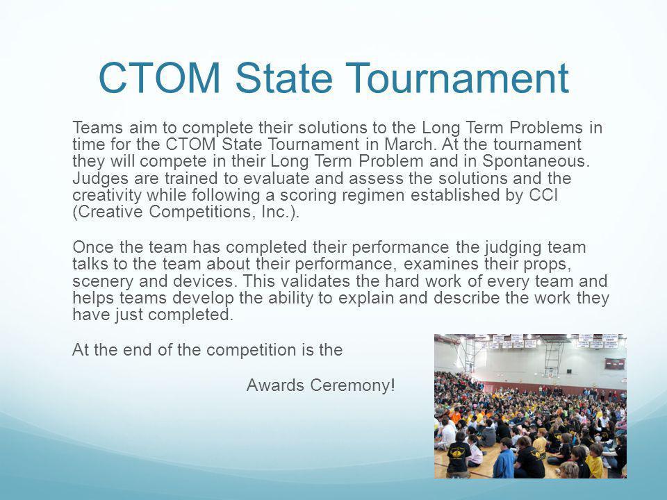 CTOM State Tournament