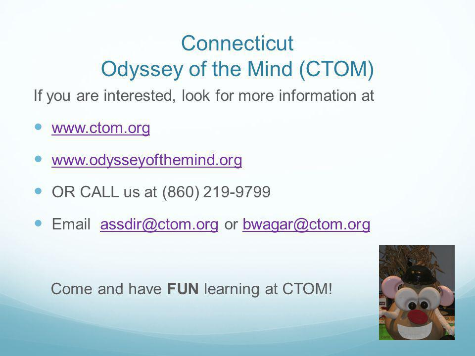 Connecticut Odyssey of the Mind (CTOM)