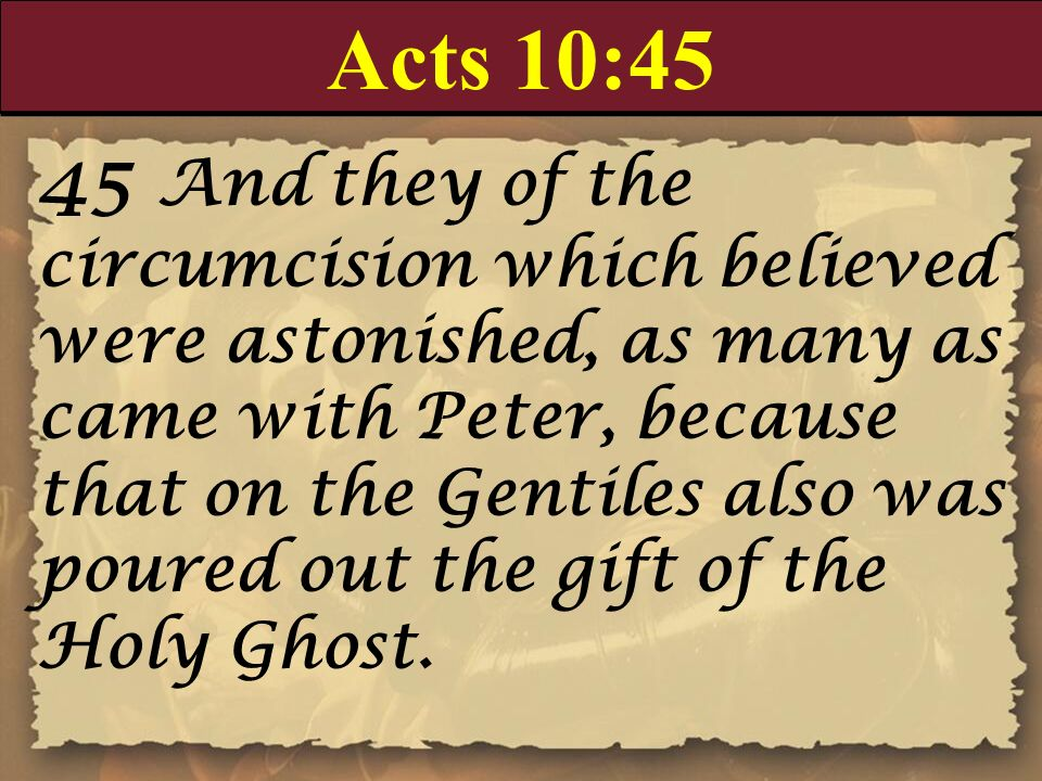 Acts 10:45