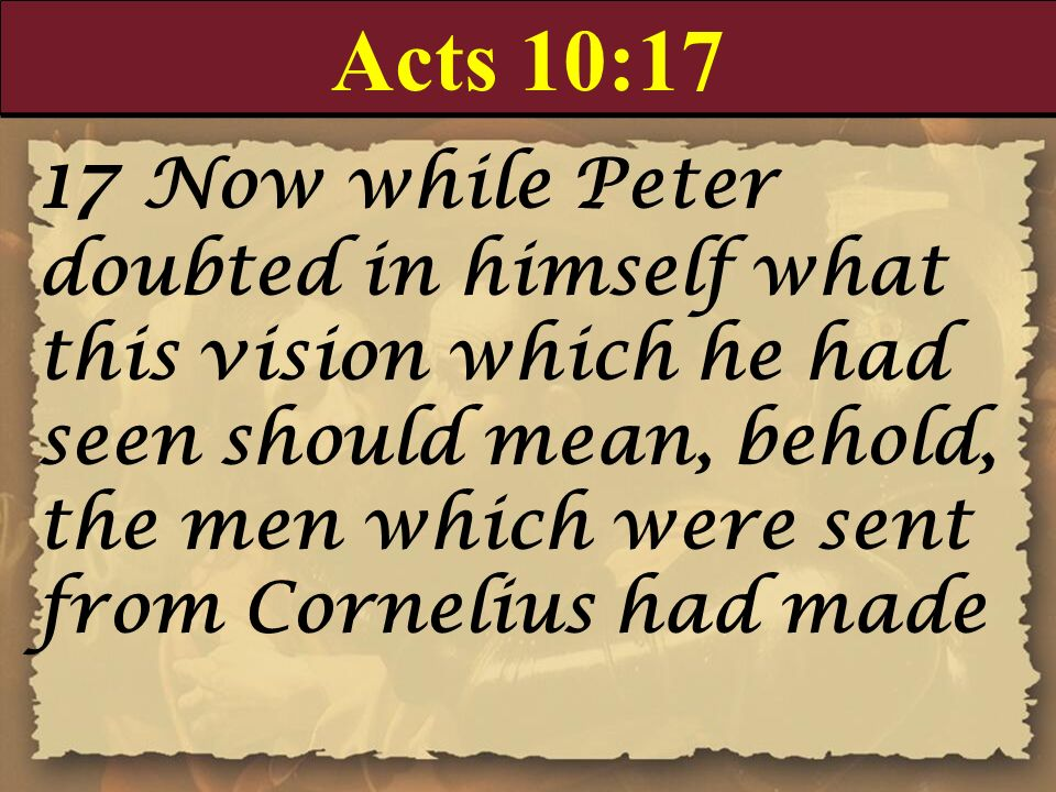 Acts 10:17