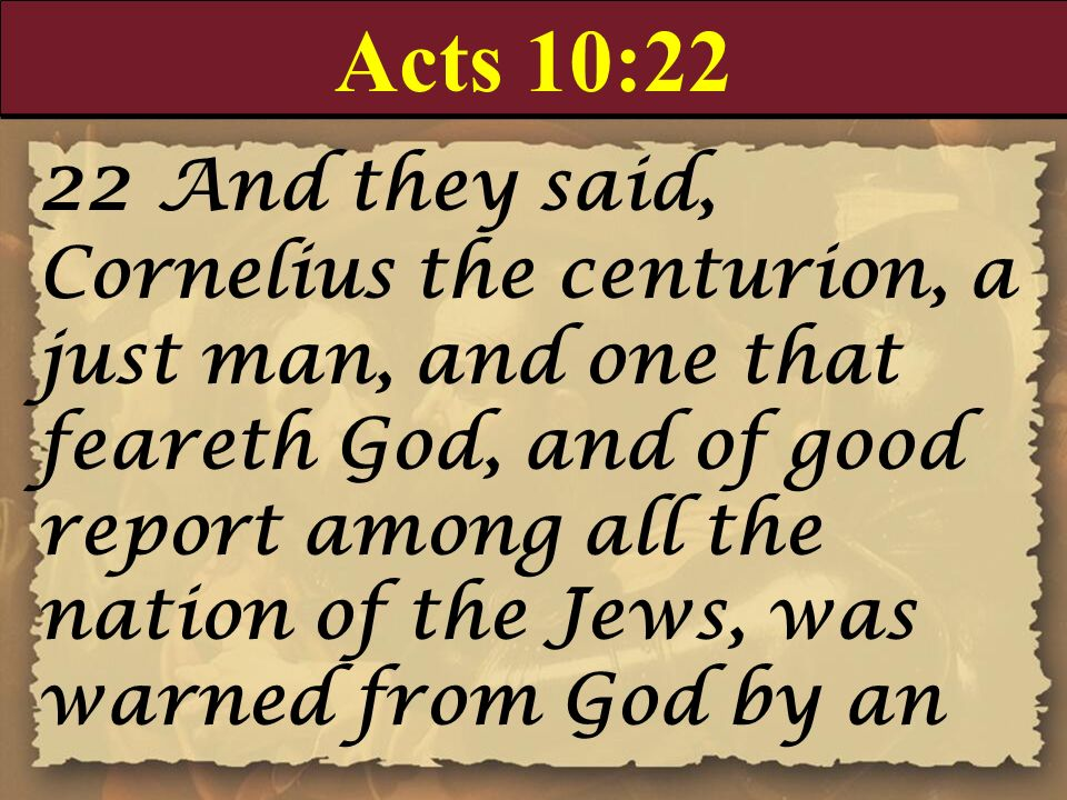 Acts 10:22