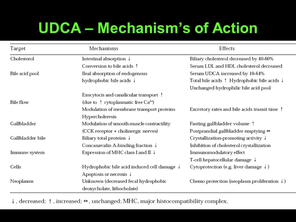 UDCA – Mechanism's of Action