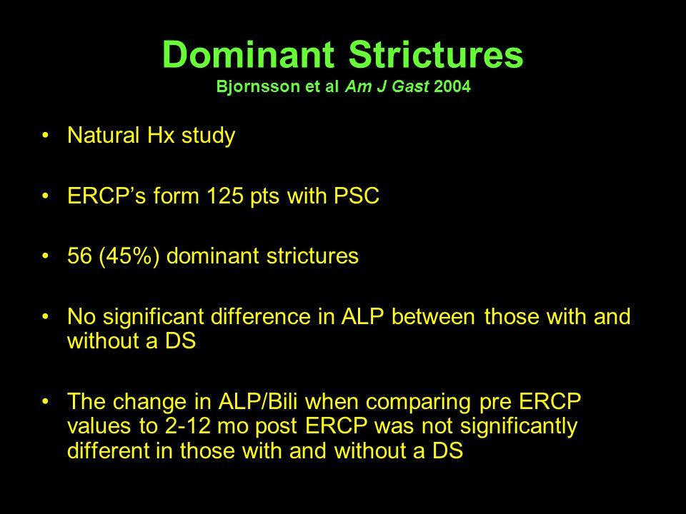 Dominant Strictures Bjornsson et al Am J Gast 2004