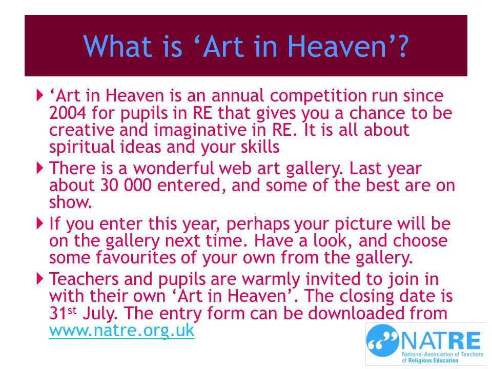 What is 'Art in Heaven'