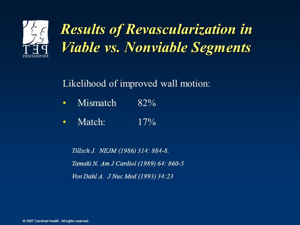 Results of Revascularization in Viable vs. Nonviable Segments