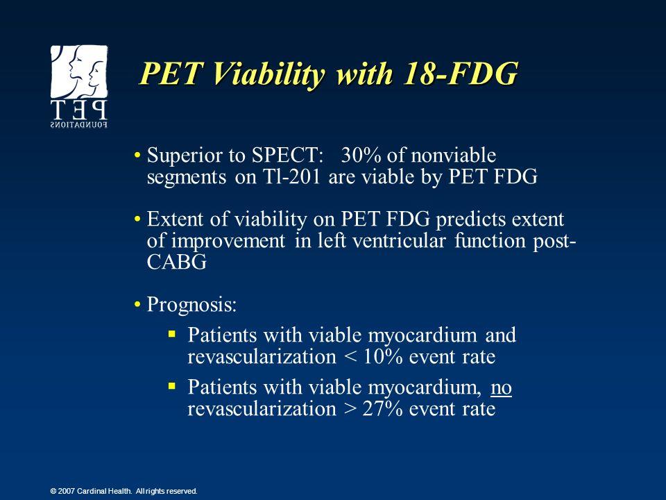 PET Viability with 18-FDG